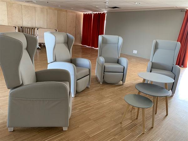 Aménagement salon EHPAD La Gacilly