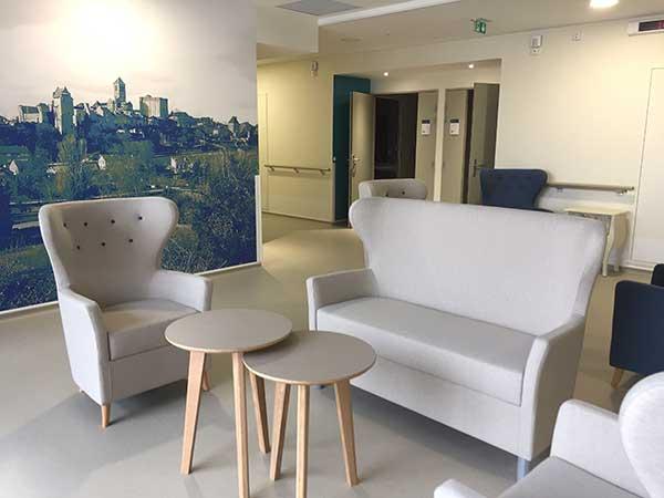 Aménagement et mobilier EHPAD public Les Châtaigniers